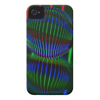 Funda Para iPhone 4 Rojo, verde, azul en la bola de cristal