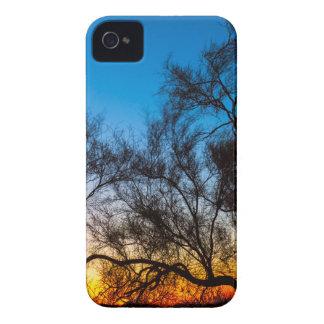 Funda Para iPhone 4 Salida del sol de la silueta del árbol de Palo