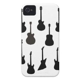 Funda Para iPhone 4 Siluetas de la guitarra de la roca