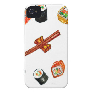 Funda Para iPhone 4 Sushi Watercolor2 determinado
