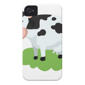 Funda Para iPhone 4 vaca de ordeño en el jardín