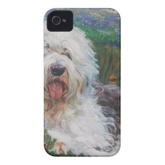 Funda Para iPhone 4 Vieja pintura inglesa hermosa del arte del perro