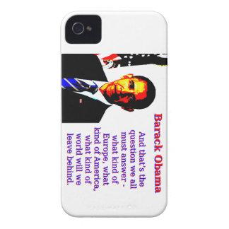 Funda Para iPhone 4 Y ésa es la pregunta - Barack Obama