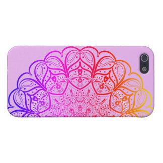 Funda Para iPhone 5 Caso del iPhone de la mandala del arco iris