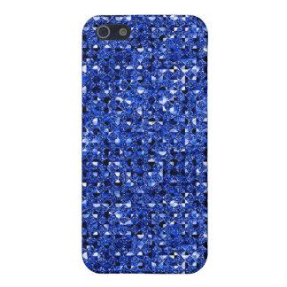 Funda Para iPhone 5 efecto azul 4 de la lentejuela