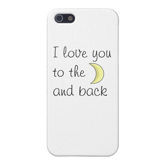 Funda Para iPhone 5 I love you to the moon and back phone case