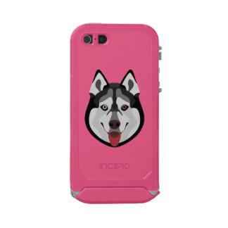 Funda Para iPhone 5 Incipio ATLAS ID El ilustracion persigue el husky siberiano de la