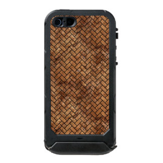 FUNDA PARA iPhone 5 INCIPIO ATLAS ID MÁRMOL BRICK2 Y BROWN NEGROS (R) DE PIEDRA