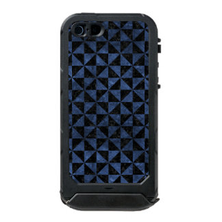 FUNDA PARA iPhone 5 INCIPIO ATLAS ID MÁRMOL NEGRO TRIANGLE1 Y PIEDRA AZUL