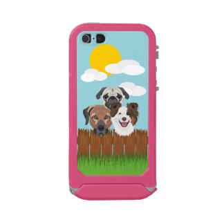 Funda Para iPhone 5 Incipio ATLAS ID Perros afortunados del ilustracion en una cerca de