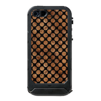 FUNDA PARA iPhone 5 INCIPIO ATLAS ID PIEDRA NEGRA DEL MÁRMOL CIRCLES2 Y DE BROWN