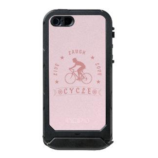 Funda Para iPhone 5 Incipio ATLAS ID Texto de Live Laugh Love Cycle de señora (rosa)
