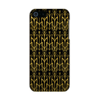 Funda Para iPhone 5 Incipio Feather Shine Diseño asombroso del art déco del Negro-Oro