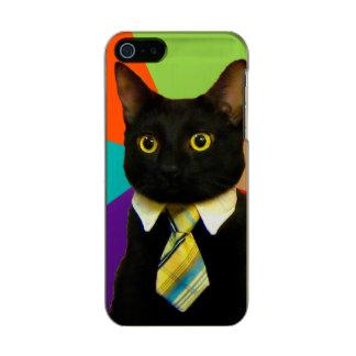 Funda Para iPhone 5 Incipio Feather Shine gato del negocio - gato negro