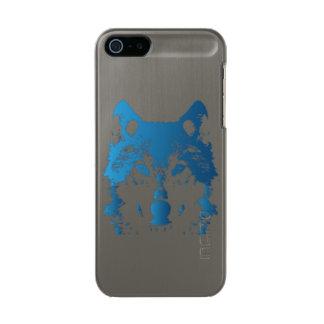 Funda Para iPhone 5 Incipio Feather Shine Lobo de los azules claros del ilustracion