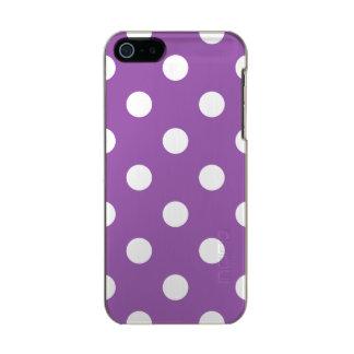 Funda Para iPhone 5 Incipio Feather Shine Modelo de lunar púrpura y blanco