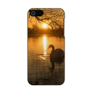 Funda Para iPhone 5 Incipio Feather Shine Puesta del sol con el cisne