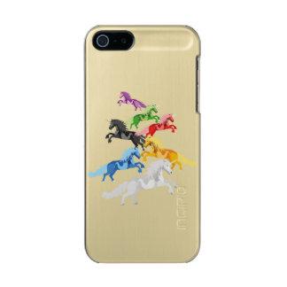 Funda Para iPhone 5 Incipio Feather Shine Unicornios salvajes coloridos del ejemplo