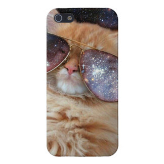Funda Para iPhone 5 Vidrios del gato - gato de las gafas de sol -