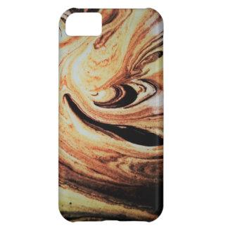 Funda Para iPhone 5C Caja veteada del teléfono del chocolate