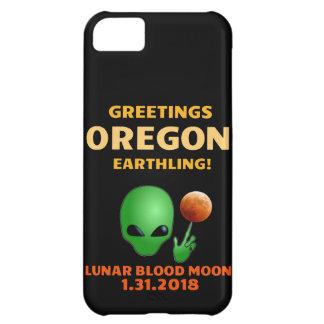Funda Para iPhone 5C ¡Earthling de Orgeon de los saludos! Eclipse lunar