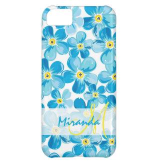Funda Para iPhone 5C El azul vibrante de la acuarela me olvida no