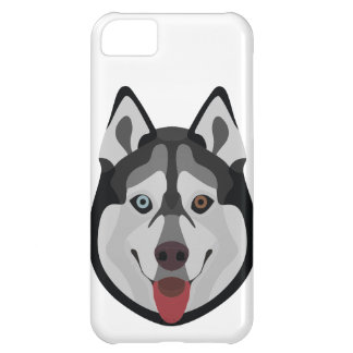 Funda Para iPhone 5C El ilustracion persigue el husky siberiano de la
