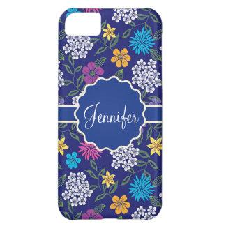 Funda Para iPhone 5C Flores salvajes femeninas de la primavera y del