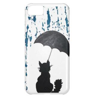 Funda Para iPhone 5C Gato debajo del paraguas
