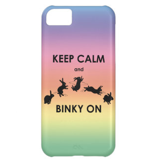 Funda Para iPhone 5C Guarde la calma y Binky en el caso del iPhone 5