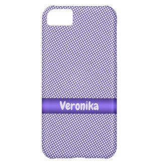 Funda Para iPhone 5C Pequeño modelo violeta de la tela escocesa