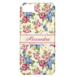 Funda Para iPhone 5C Rosa romántico en colores pastel del flor, rojo,