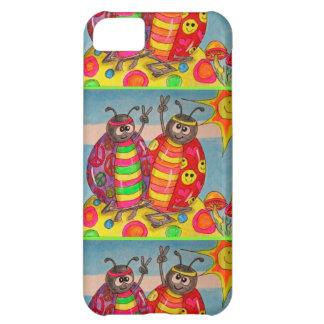 Funda Para iPhone 5C Señora Bug Art del Hippie de la paz y del amor