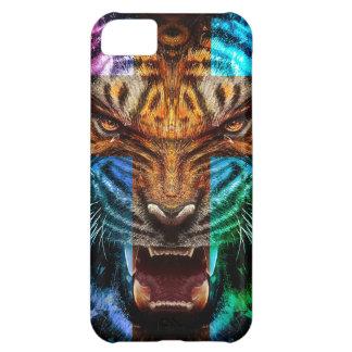 Funda Para iPhone 5C Tigre cruzado - tigre enojado - cara del tigre -