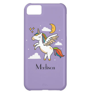 Funda Para iPhone 5C Unicornio del vuelo