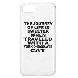 Funda Para iPhone 5C Viajado con el gato del chocolate de York