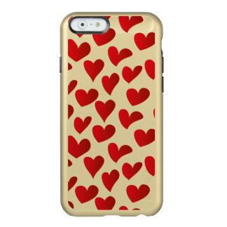Funda Para iPhone 6 Plus Incipio Feather Shine Amor rojo pintado modelo del corazón del ejemplo