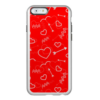 Funda Para iPhone 6 Plus Incipio Feather Shine Corazón y flecha blancos rojos del amor de las