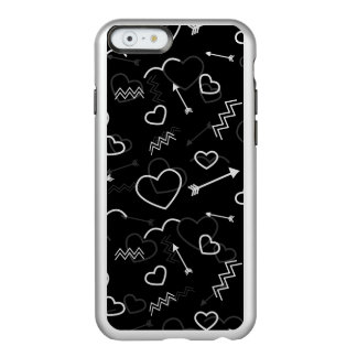 Funda Para iPhone 6 Plus Incipio Feather Shine Corazón y flecha blancos y negros del amor de las