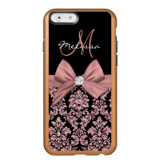 Funda Para iPhone 6 Plus Incipio Feather Shine Damasco color de rosa del negro del purpurina del