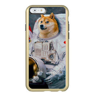 Funda Para iPhone 6 Plus Incipio Feather Shine Dux perro-lindo del astronauta-dux-shibe-dux del