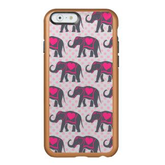 Funda Para iPhone 6 Plus Incipio Feather Shine Elefantes de rosas fuertes grises bonitos en