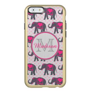 Funda Para iPhone 6 Plus Incipio Feather Shine Elefantes de rosas fuertes grises en los lunares