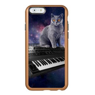 Funda Para iPhone 6 Plus Incipio Feather Shine gato del teclado - música del gato - espacie el