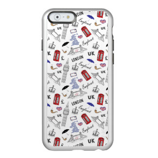 Funda Para iPhone 6 Plus Incipio Feather Shine La ciudad de Londres Doodles el modelo