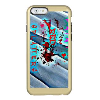 Funda Para iPhone 6 Plus Incipio Feather Shine La pintura roja salpica la caja azul de las ondas