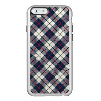 Funda Para iPhone 6 Plus Incipio Feather Shine Modelo de la tela escocesa de los azules marinos