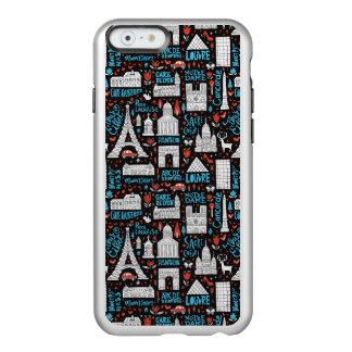 Funda Para iPhone 6 Plus Incipio Feather Shine Modelo de los símbolos de Francia el |