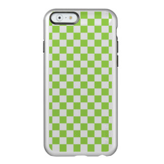 Funda Para iPhone 6 Plus Incipio Feather Shine Modelo del tablero de damas del verde amarillo