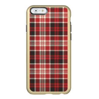 Funda Para iPhone 6 Plus Incipio Feather Shine Modelo rojo y negro de la tela escocesa
